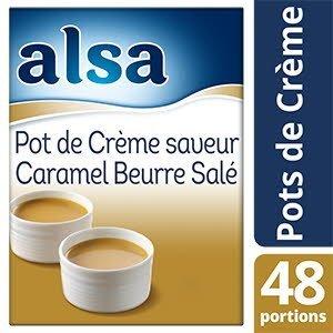 Alsa Pot de Crème Saveur Caramel au Beurre Salé 720g 48 portions