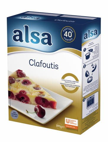 Alsa Préparation pour Clafoutis 890g 40 portions -