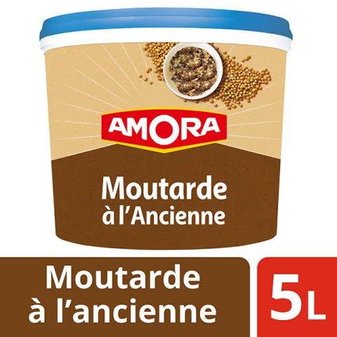Amora Moutarde à l'ancienne seau 5kg -