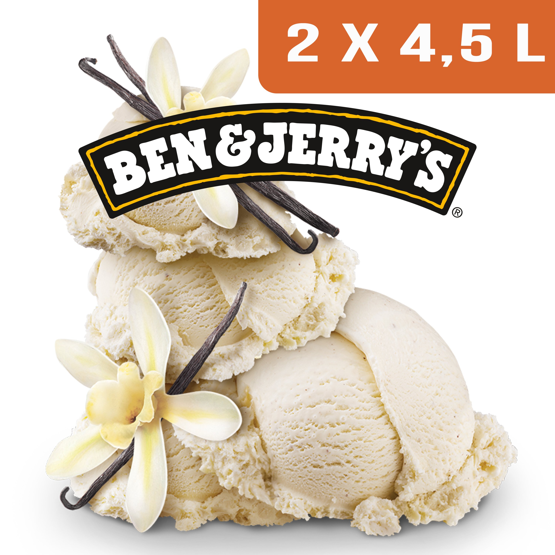 Ben & Jerry's Bac Vanille - 2 x 4,5L -