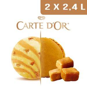 Carte d'Or Création glacée Gourmandise Macaron Caramel - 2,4 L