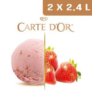 Carte d'Or Crème glacée Fraise - 2,4 L -