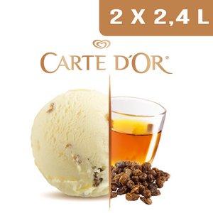 Carte d'Or Crème glacée Rhum-Raisins -  2,4 L