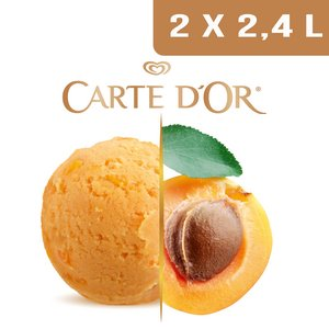 Carte d'Or Sorbets plein fruit Abricot - 2,4 L