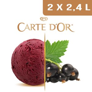 Carte d'Or Sorbets plein fruit Cassis - 2,4 L  -