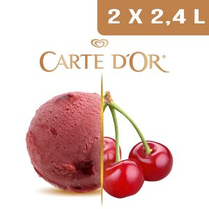 Carte d'Or Sorbets plein fruit Cerise - 2,4 L