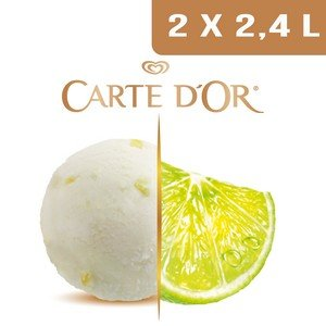 Carte d'Or Sorbets plein fruit Citron Vert - 2,4 L  -