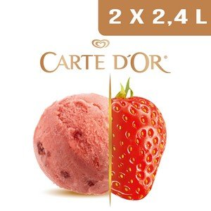 Carte d'Or Sorbets plein fruit Fraise - 2,4 L