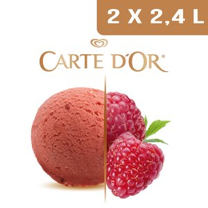 Carte d'Or Sorbets plein fruit Framboise - 2,4 L  -