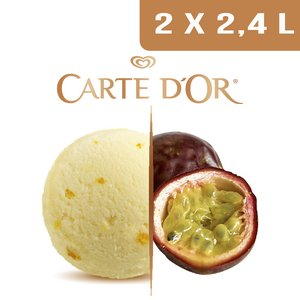 Carte d'Or Sorbets plein fruit Fruits de la Passion d'Equateur - 2,4 L  -