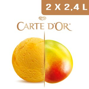 Carte d'Or Sorbets plein fruit Mangue d'Inde - 2,4 L  -