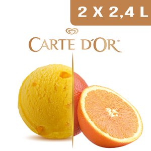 Carte d'Or Sorbets plein fruit Orange - 2,4 L