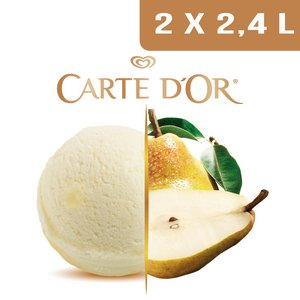 Carte d'Or Sorbets plein fruit Poire - 2,4 L