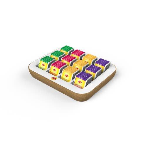 Coffret ouvert Lipton Sachets Fraicheur vide _ 12 casiers  -