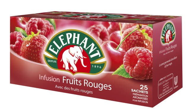 Elephant Infusion Fruits Rouges 25 sachets fraîcheur -
