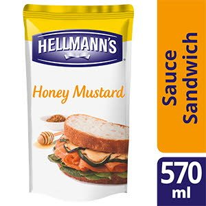 Hellmann's Sauce Sandwich et Burger Miel Moutarde 570ml