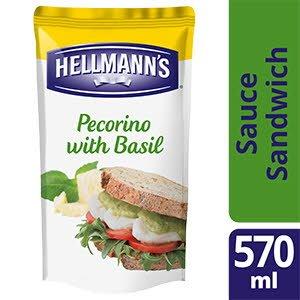 Hellmann's Sauce Sandwich et Burger Pecorino & Basilic 570 ml - Hellmann's a développé des sauces sandwiches pour vous permettre d'ajouter encore plus de goût aux sandwiches et burgers les plus populaires.
