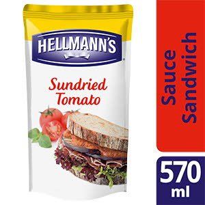 Hellmann's Sauce sandwich et burger Tomates Séchées & Basilic 570ml