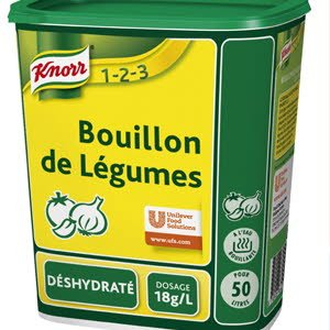 Knorr 1-2-3 Bouillon de Légumes Déshydraté 900g jusqu'à 50L  -