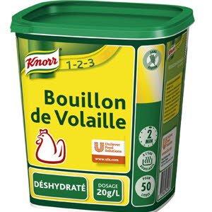 Knorr 1-2-3 Bouillon de Volaille déshydraté 1kg jusqu'à 50L