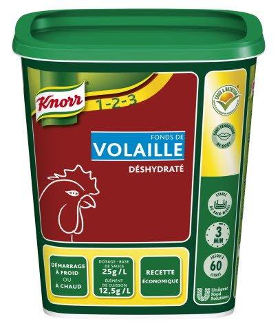 Knorr 1-2-3 Fonds de Volaille déshydraté 750 g jusqu'à 60L