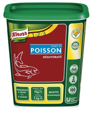 Knorr 1-2-3 Fumet de Poisson déshydraté 750 g jusqu'à 100L -