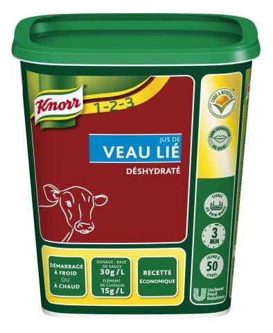 Knorr 1-2-3 Jus de Veau Lié déshydraté 750 g jusqu'à 50L -