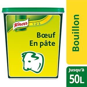 Knorr 123 Bouillon de bœuf en pâte 1kg jusqu'à 50L