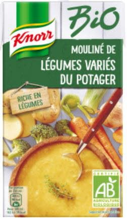 Knorr Bio Soupe liquide -  Mouliné de légumes variés du potager liquide 1l -