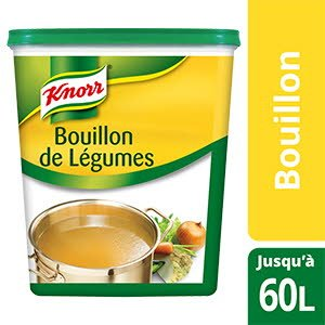 knorr bouillon de l gumes d shydrat 1 1kg jusqu 39 50l unilever food solutions. Black Bedroom Furniture Sets. Home Design Ideas