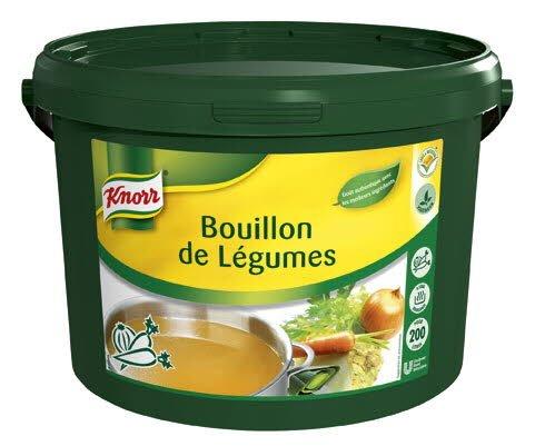 Knorr Bouillon de Légumes Déshydraté seau 4kg jusqu'à 200L