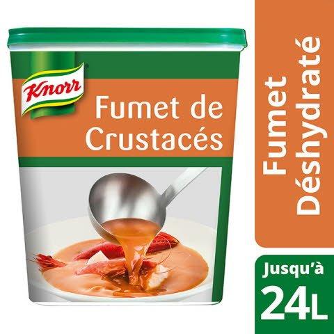 Knorr Fumet de Crustacés Déshydraté Boîte de 600g jusqu'à 24L -