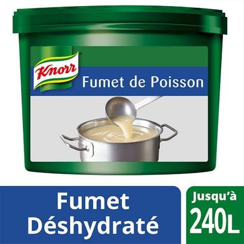 Knorr Fumet de Poisson Déshydraté Seau 3,6kg jusqu'à 240L -