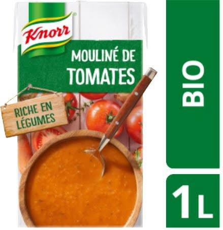 Knorr Soupe Bio -  Mouliné de Tomates Oignons et Pointe d'Herbes 1l -