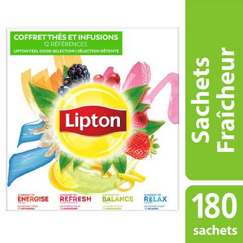Lipton Coffret Thés et Infusions 180 sachets fraîcheur -