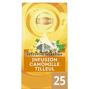 Lipton Exclusive Selection Infusion Camomille Tilleul 25 sachets pyramides -
