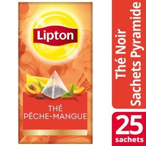 Lipton Exclusive Selection Thé Pêche et Mangue 25 sachets pyramides