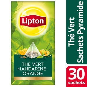 Lipton Exclusive Selection Thé vert Mandarine Orange 25 sachets