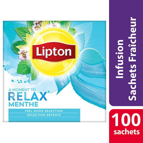 Lipton Feel Good Selection Infusion Menthe Poivrée 100 Sachets Fraîcheur -