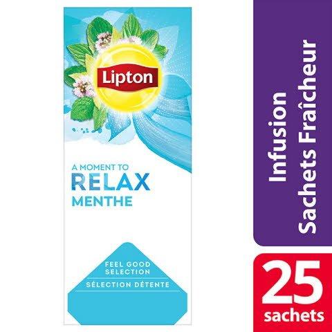 Lipton Feel Good Selection Infusion Menthe Poivrée 25 Sachets Fraîcheur  -