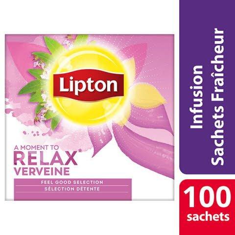 Lipton Feel Good Selection Infusion Verveine 100 sachets fraîcheur - Lipton sachets fraîcheur, une gamme unique pour chaque moment de la journée.