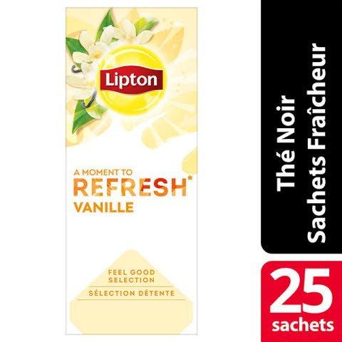 Lipton Feel Good Selection Thé Vanille 25 Sachets Fraîcheur -
