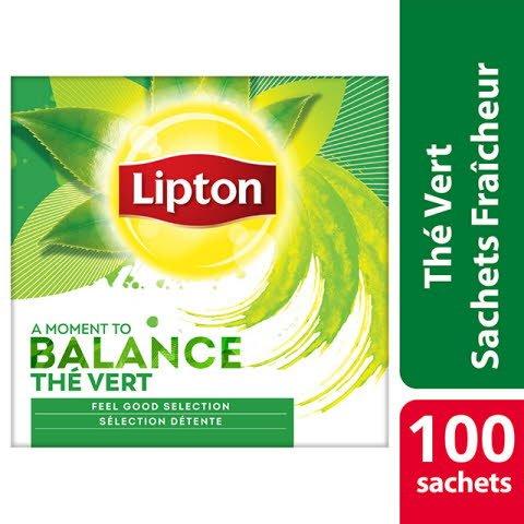 Lipton Feel Good Selection Thé Vert 100 Sachets Fraîcheur -