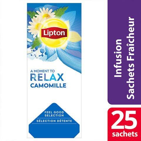Lipton Infusion Camomille 25 sachets fraîcheur