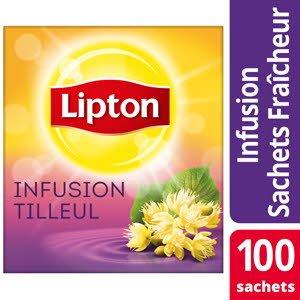 Lipton Infusion Tilleul 100 sachets fraîcheur
