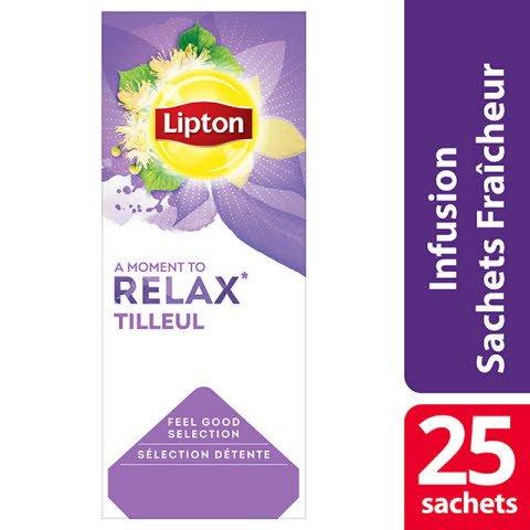 Lipton Infusion Tilleul 25 sachets fraîcheur