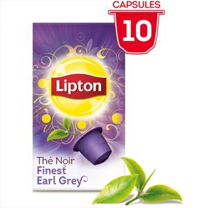 Lipton Thé Finest Earl grey - 10 Capsules