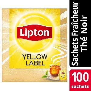 Lipton Thé noir Yellow Label 100 sachets fraîcheur
