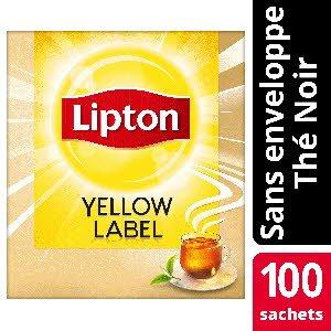 Lipton Thé noir Yellow Label 100 sachets service