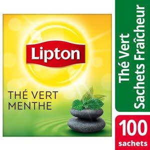 Lipton Thé Vert Menthe 100 sachets fraîcheur